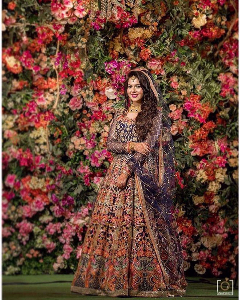 Picture of Maisha makes a beautiful bride in this extravegant lehnga with such detailed work