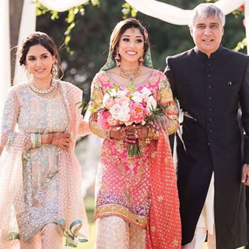 Picture of OUR BEAUTIFUL CLIENT WEARING NOMI ANSARI'S TRADITIONAL WEDDING ENSEMBLE