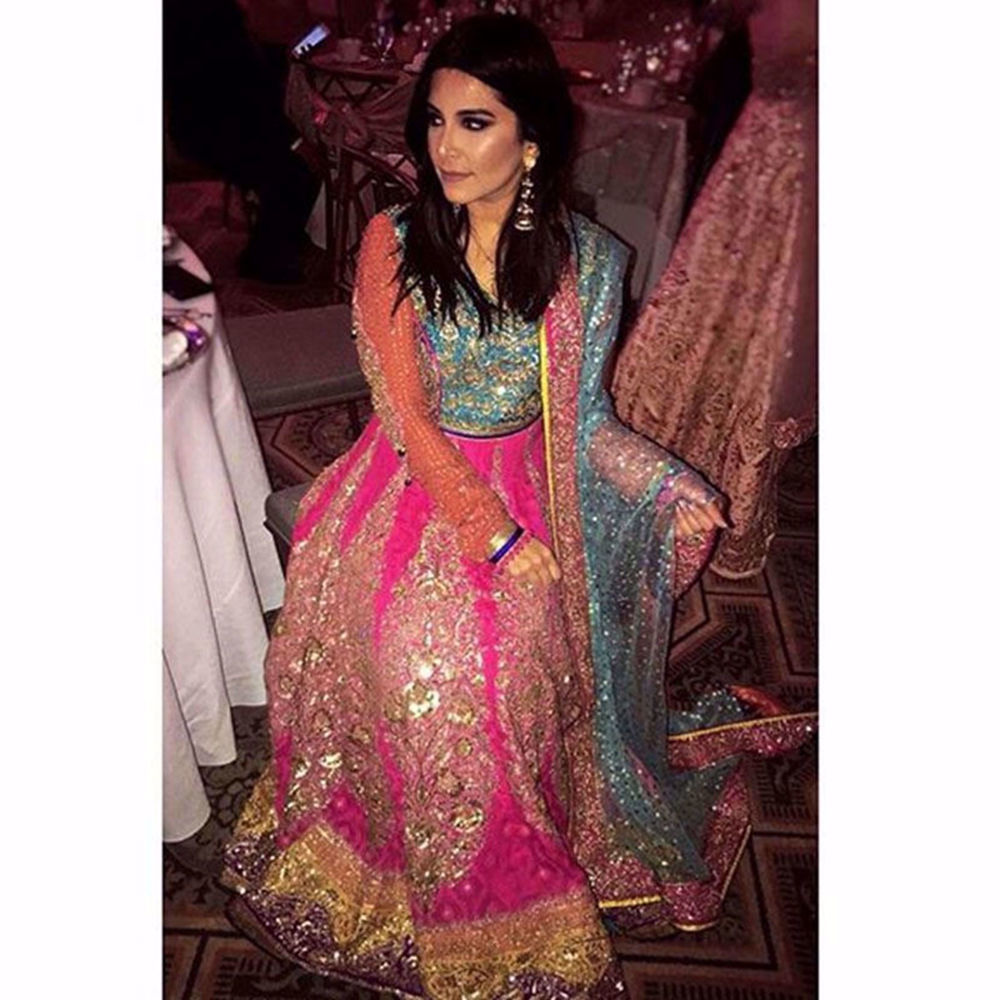 Picture of ABIHA J KHAN IN A NOMI ANSARI ANARKALI AT A WEDDING IN CHICAGO