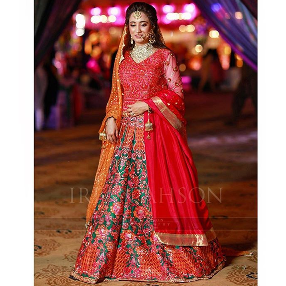 Picture of OUR CLIENT LOOKS RADIANT IN A CUSTOM NOMI ANSARI ENSEMBLE