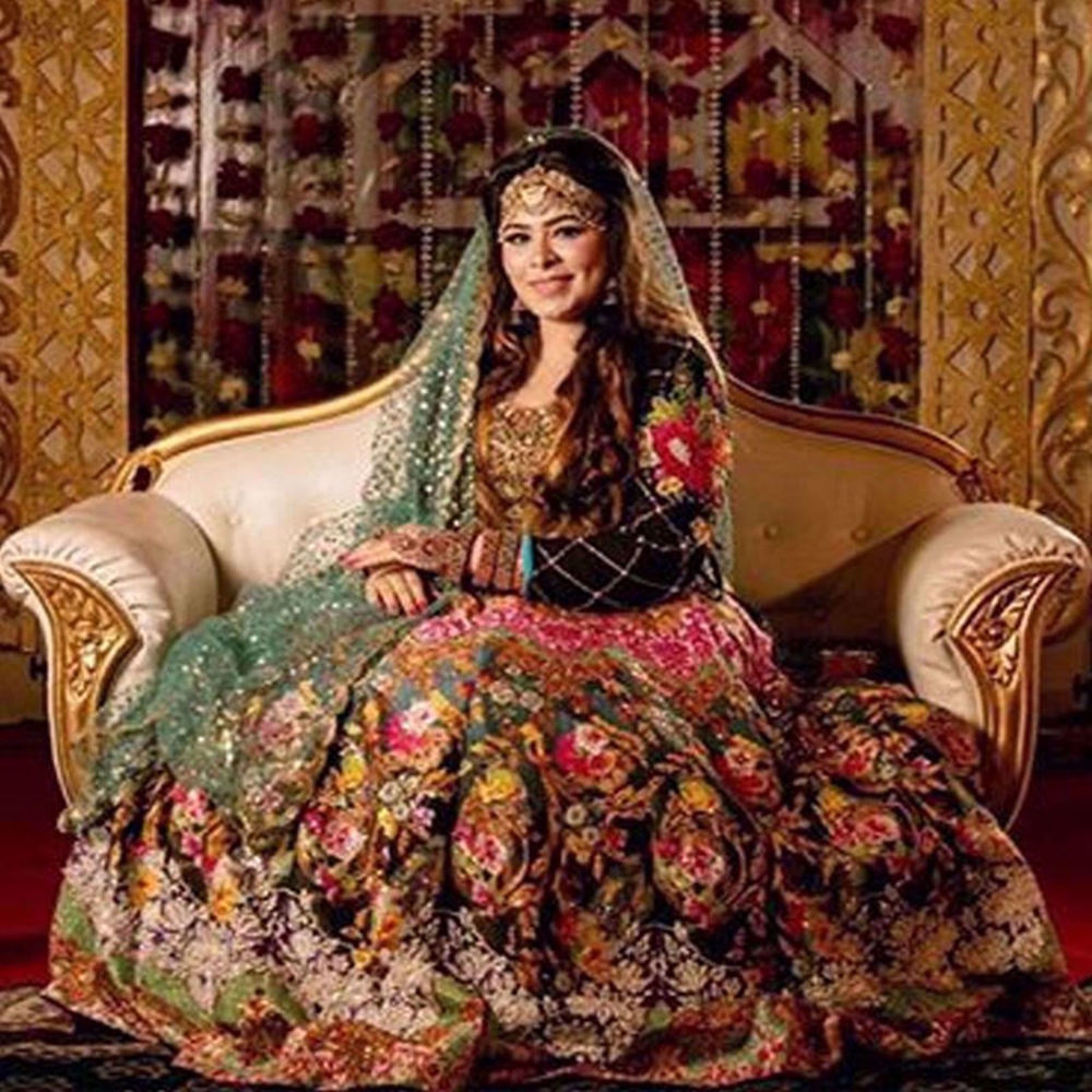 Picture of OUR BEAUTIFUL CLIENT AREEBA AT HER MEHNDI EVENT IN BANGLADESH WEARING BLACK DAHLIA