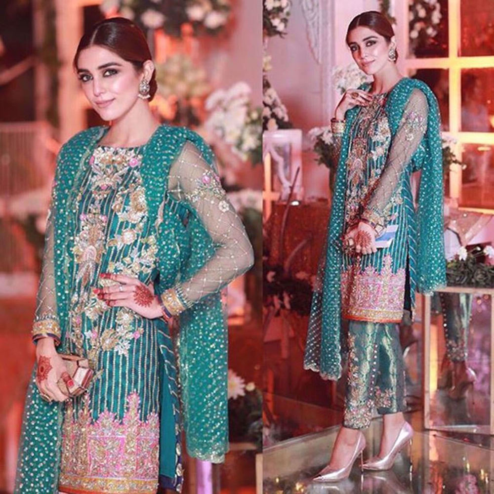 Picture of MAYA ALI SPOTTED AT A WEDDING WEARING NOMI ANSARI