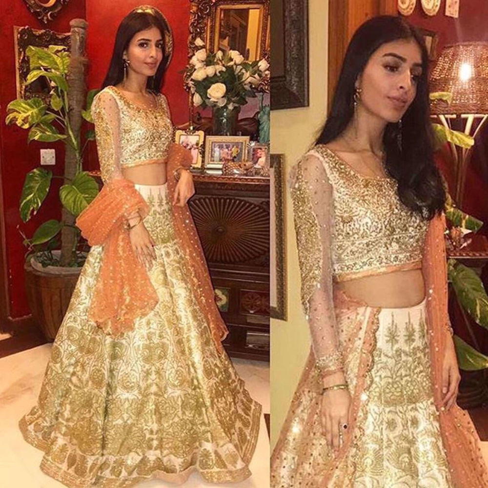 Picture of CLIENT LOOKING BEAUTIFUL IN NOMI ANSARI COUTURE