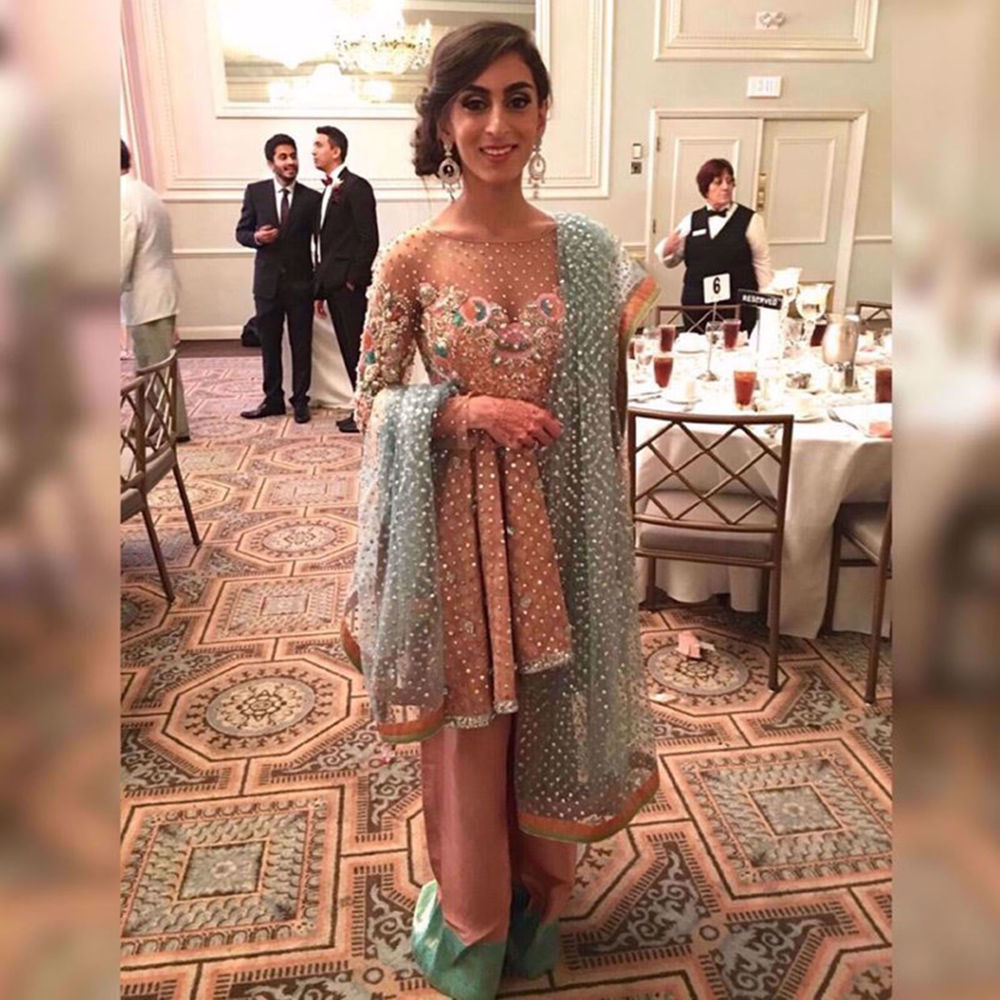 Picture of NOOR ISMAIL IN A CUSTOM OUTFIT BY NOMI ANSARI