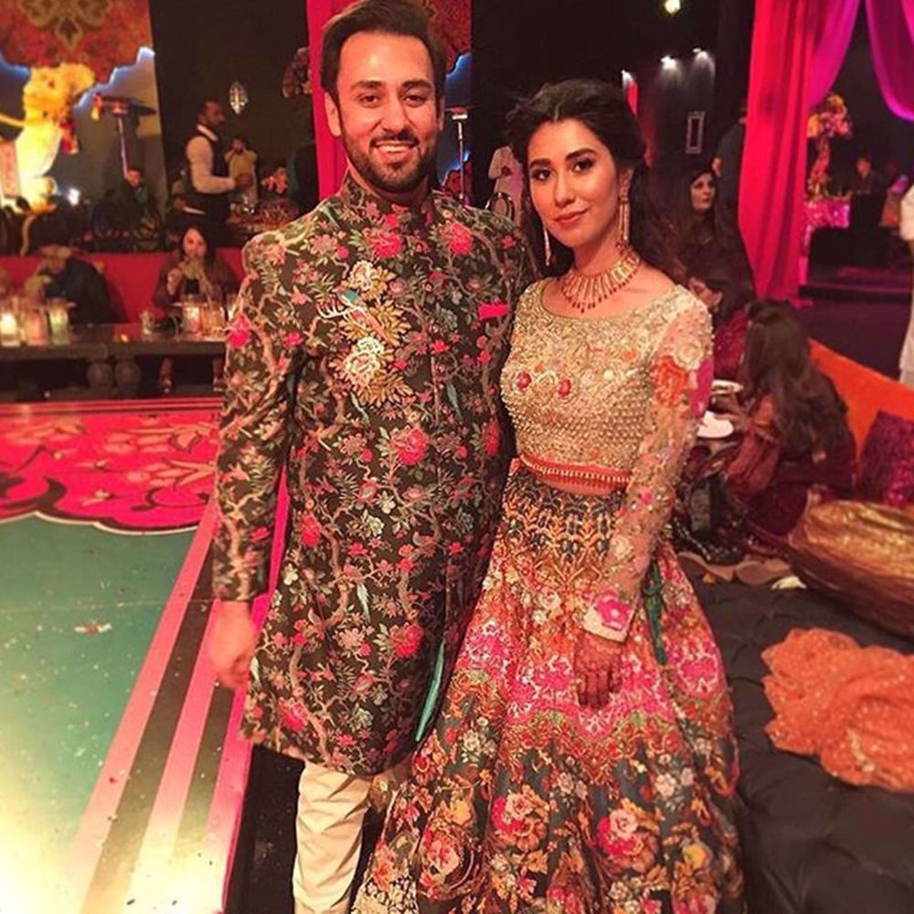 Picture of THE BEAUTIFUL COUPLE ELIZA RAZA AND EBAD NAYEK IN NOMI ANSARI AT THEIR MEHNDI