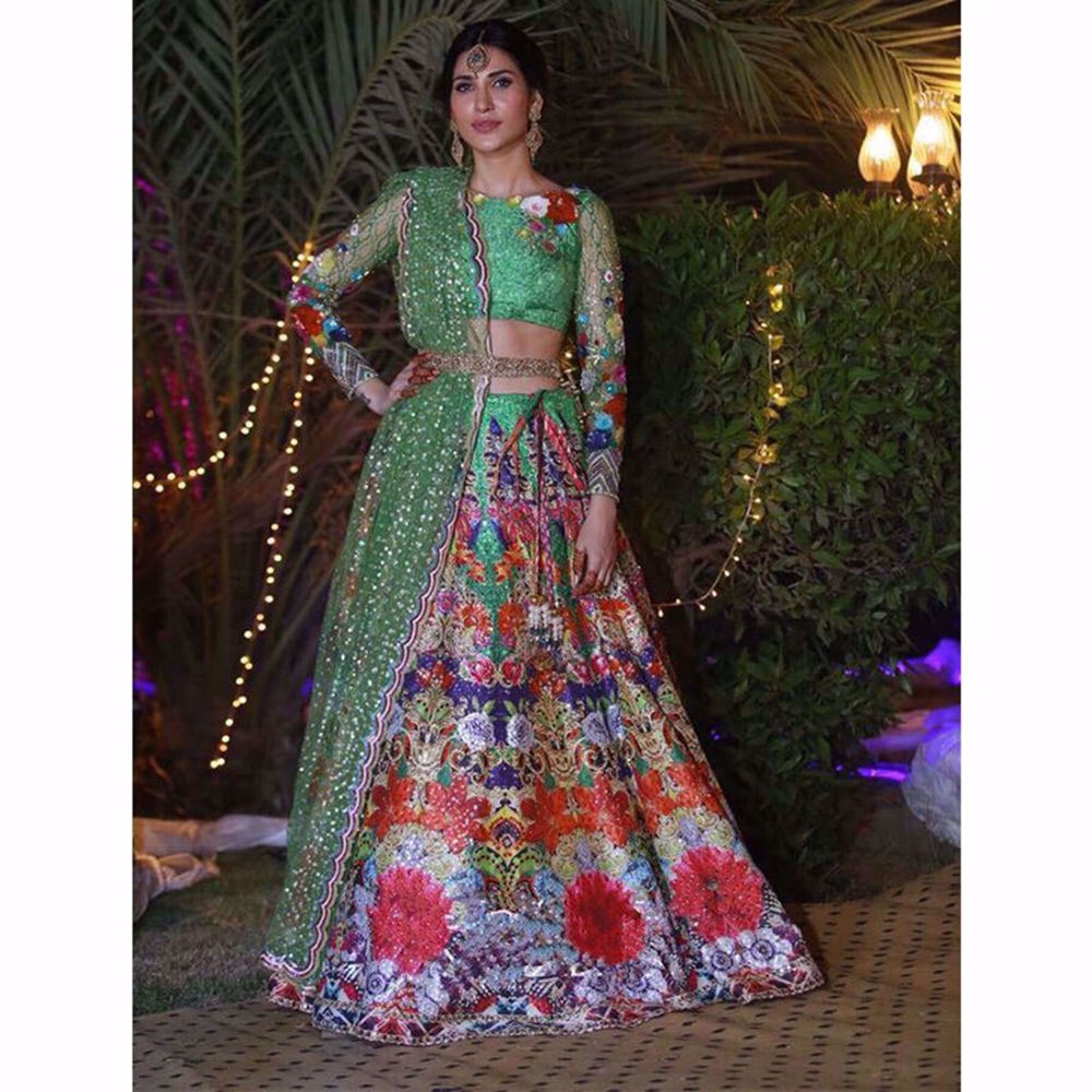 Picture of ABEER RIZVI LOOKING BREATHTAKING IN THIS GREEN LEHNGA CHOLI