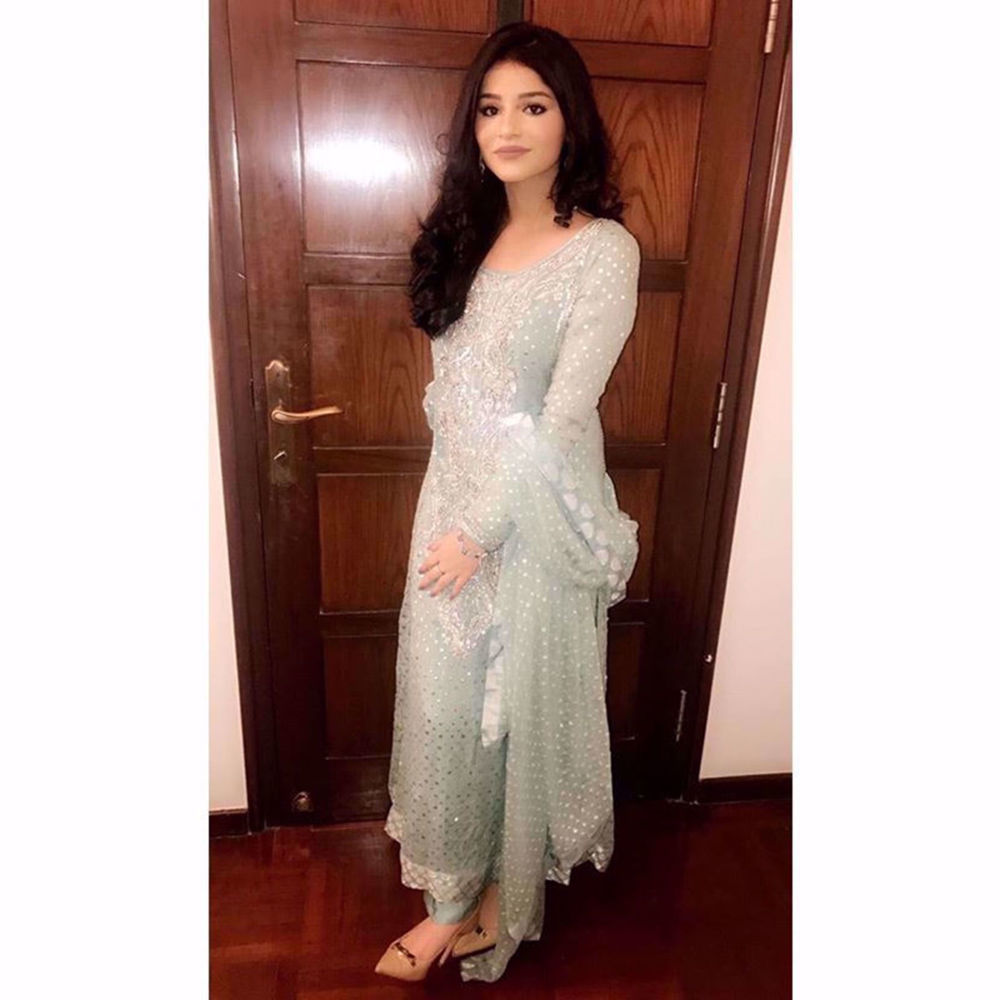 Picture of AREEBA WALI MOHAMMAD IN A STUNNING CUSTOM CREATION