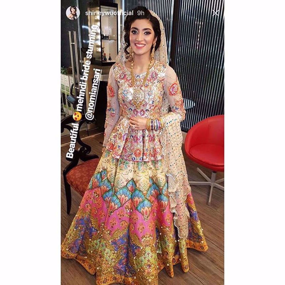Picture of AYESHA YOUSAF SPOTTED IN LOTUS AT HER MEHNDI