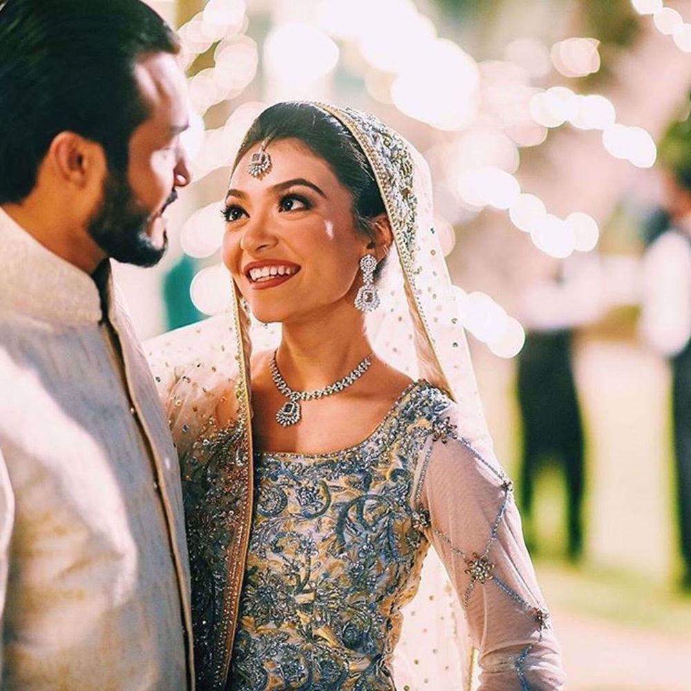 Picture of BRIDE ALL SMILES IN NOMI ANSARI COUTURE