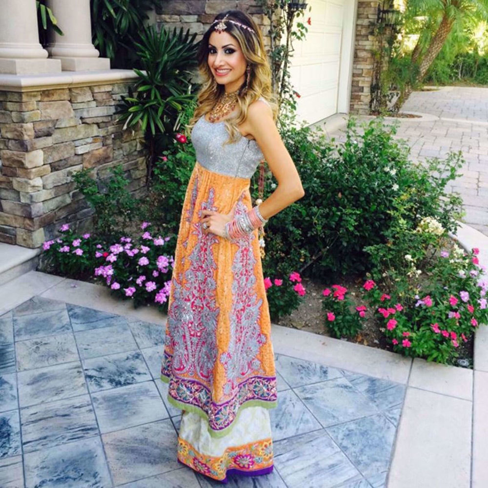 Picture of GORGEOUS CLIENT IN A CUSTOM OUTFIT BY NOMI ANSARI