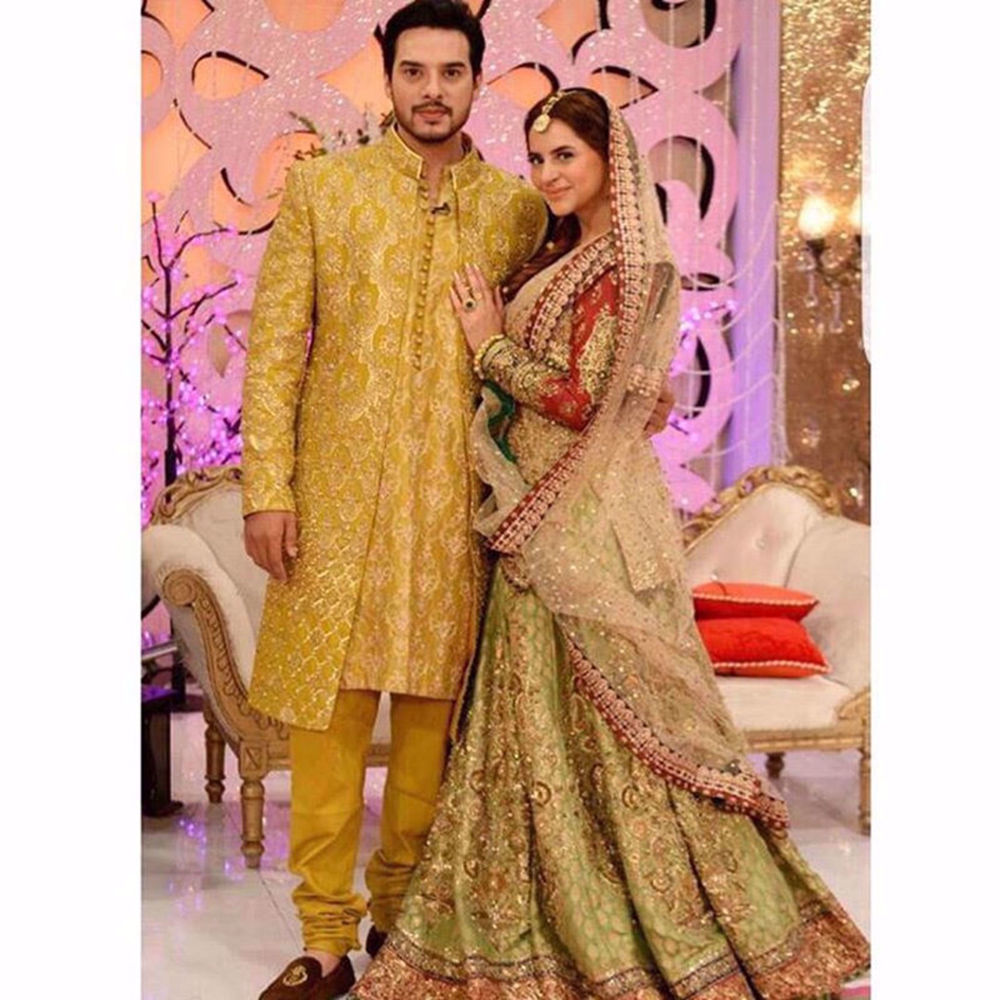 Picture of KUNWAR AND FATIMA LOOKING SPLENDID IN THEIR MEHNDI OUTFIT