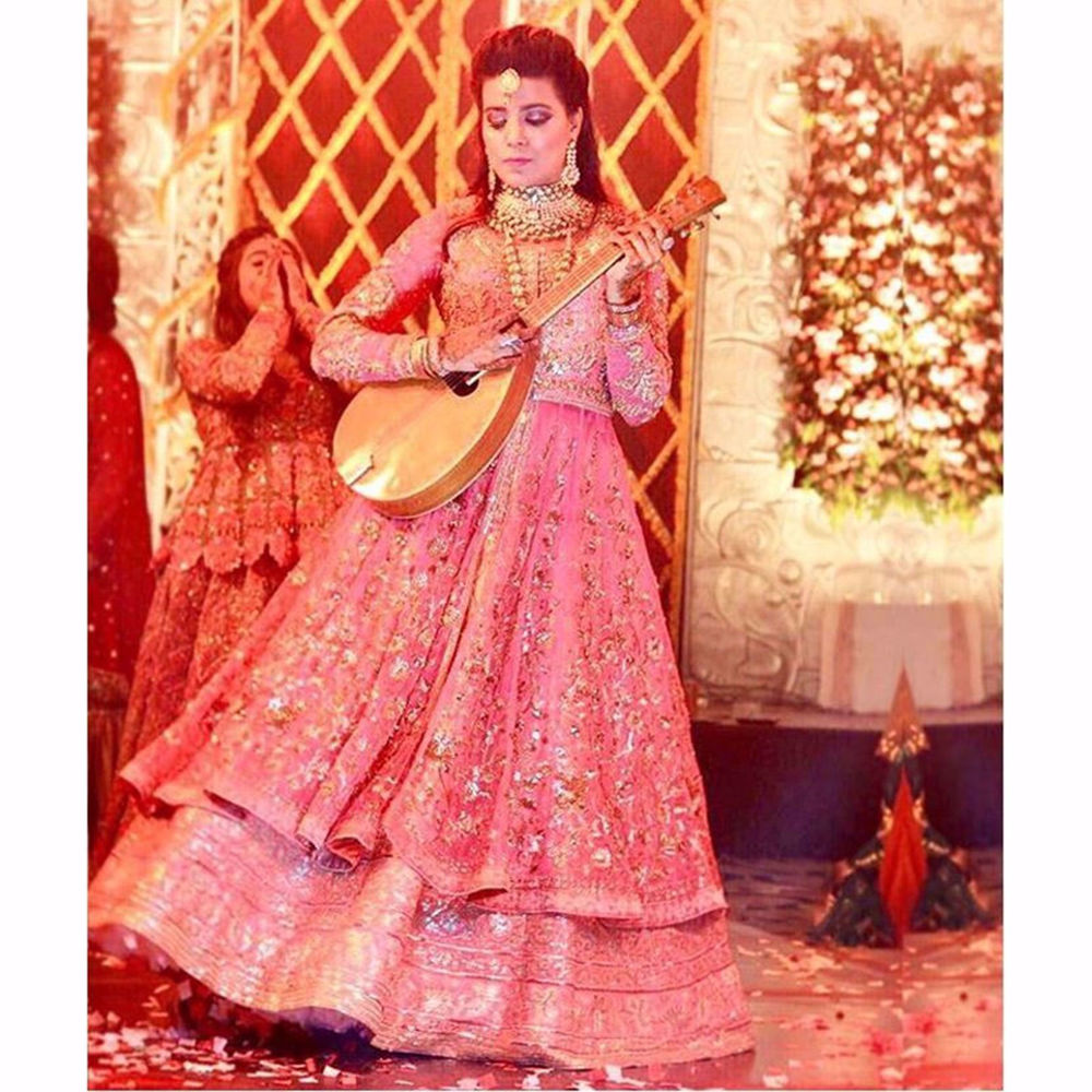 Picture of MAHAM AHMAD IN PINK ANARKALI