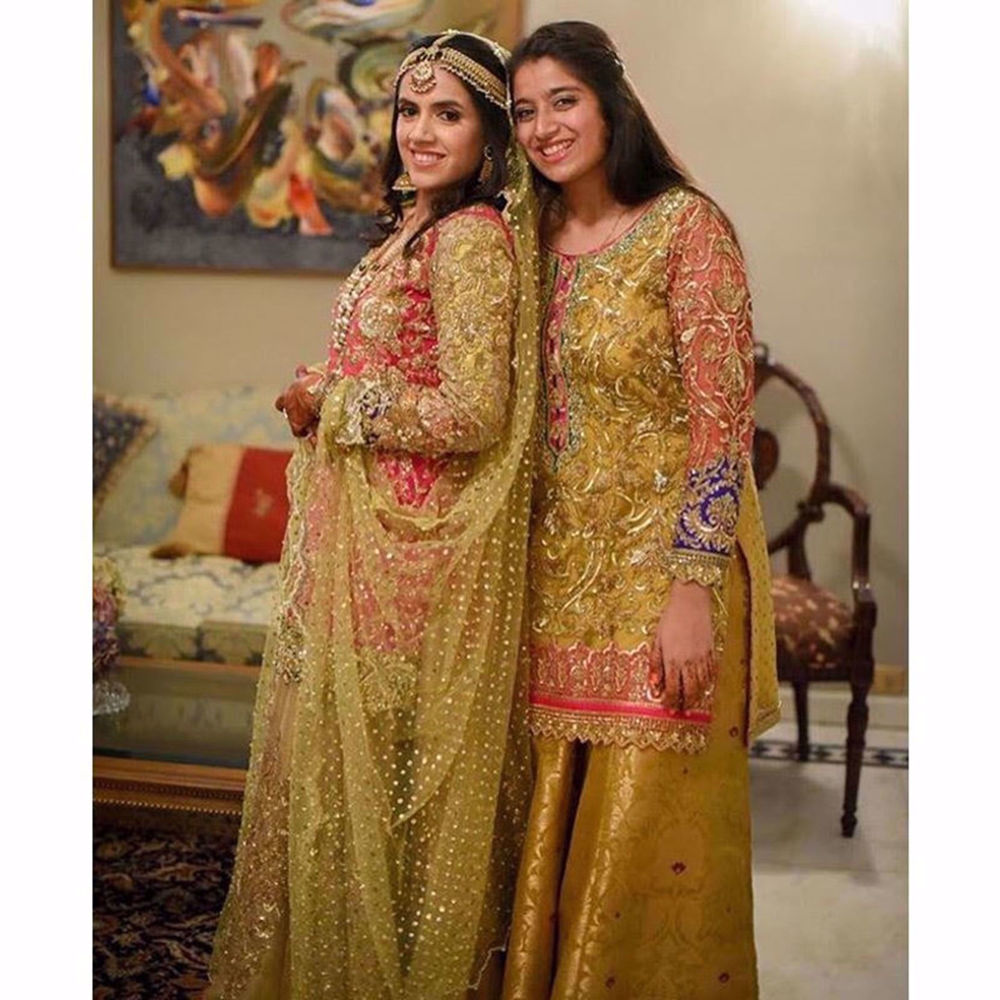 Picture of MISHAL AND RAMSHA SHEIKH TWINNING IN NOMI ANSARI COUTURE