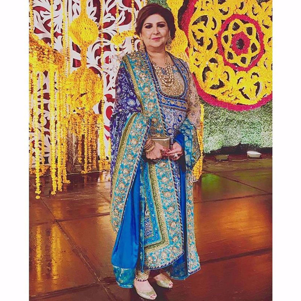 Picture of PINKY AFZAL SPOTTED IN A CUSTOM ANGRAKHA