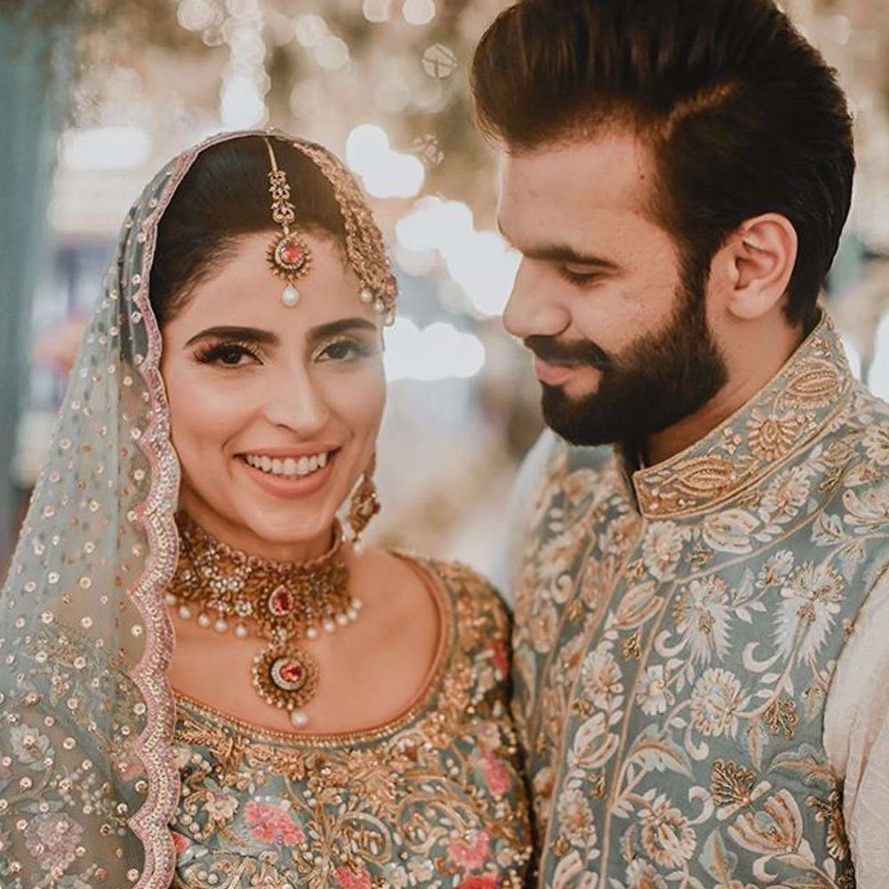 Picture of Shehwar and #Taha spotted wearing #nomiansari on their Big day