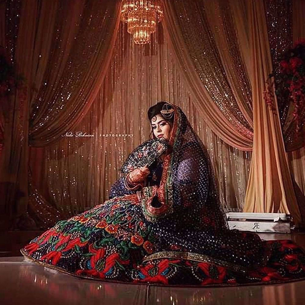 Picture of Client in a bridal wear by Nomi Ansari