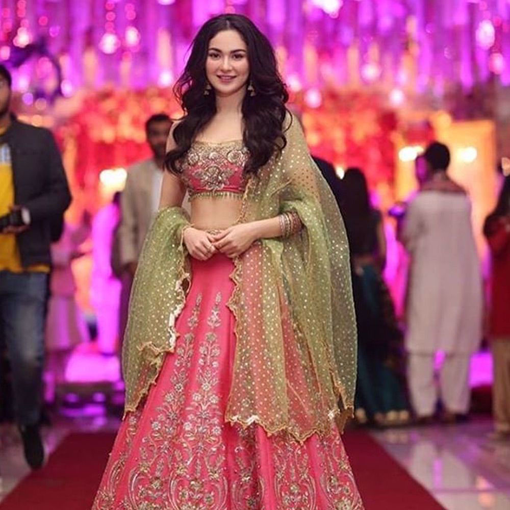 Picture of Our very cute Hania spotted wearing #nomiansari at a wedding in #Lahore
