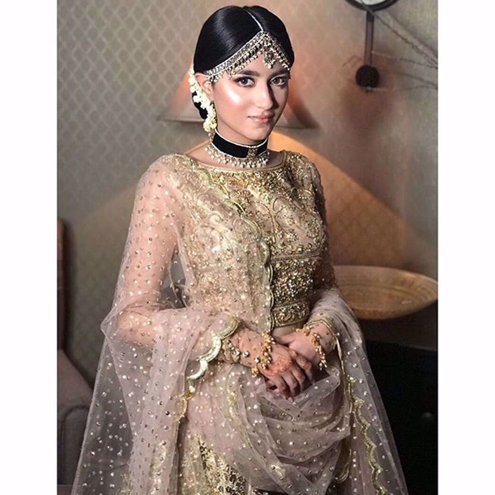 Picture of Sanah Hussain looks absolutely stunning in this beautiful creation by Nomi Ansari