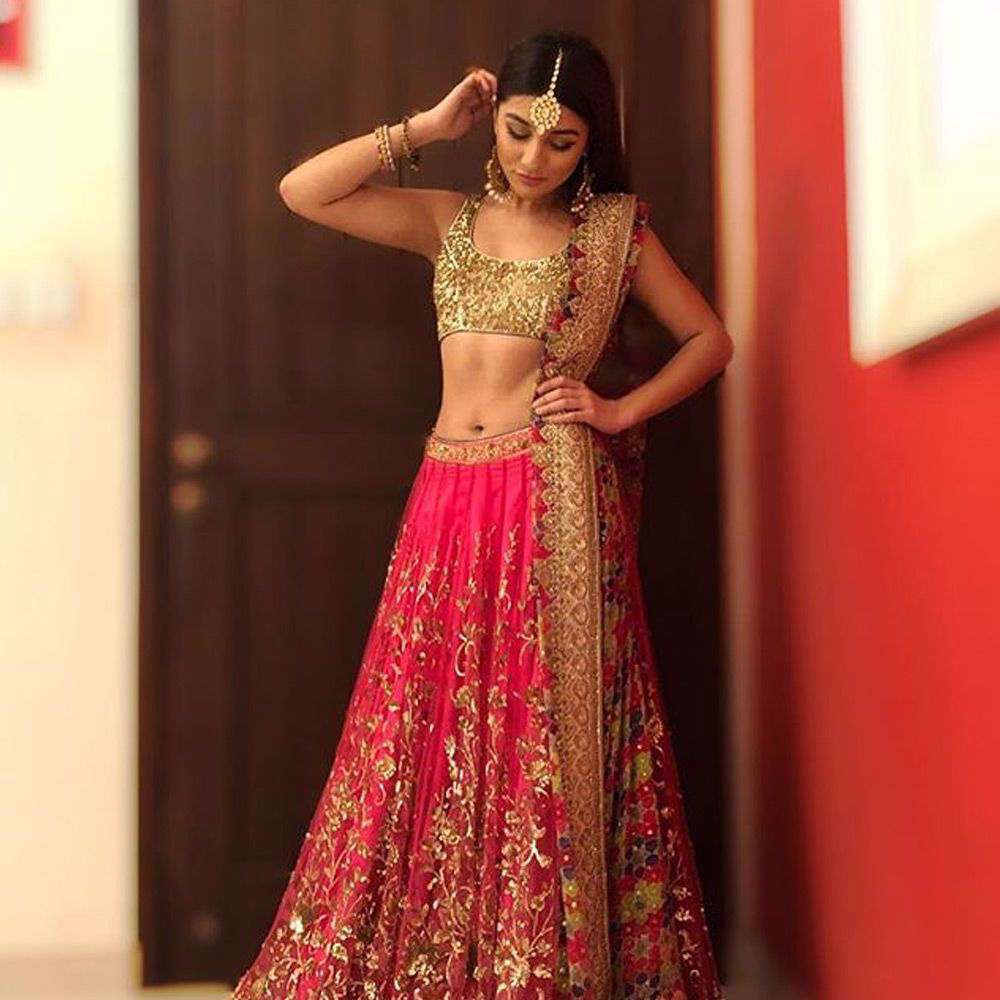 Picture of The beautiful @parishehjamesofficial in a signature #nomiansari #lehenga #choli we love the look on her.