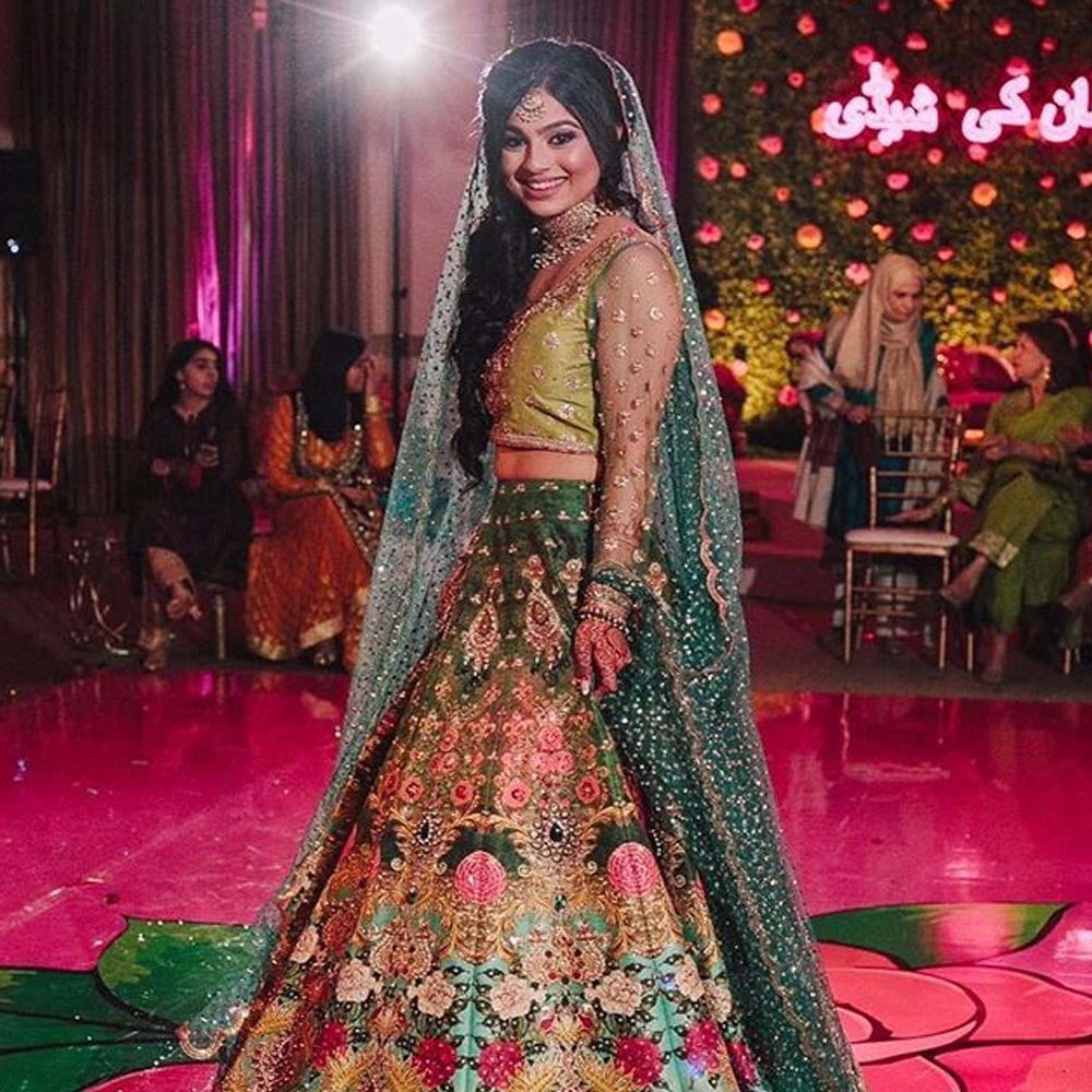 Picture of The lovely @sahrishq in #NomiAnsari at her mendhi in the US - love her whole look