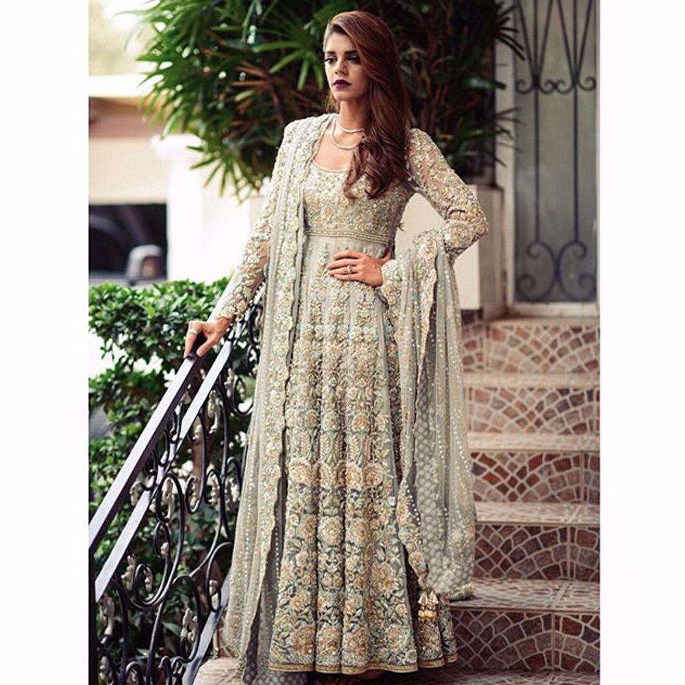 Picture of The specks of beautiful colors imbedded within true artisanship, romanticize the binding of superior skill and craft featuring #SanamSaeed