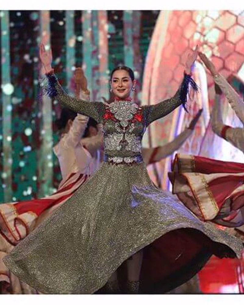 Picture of A special costume custom made for Hania Aamir's grand performance at the HUM Women Leaders Awards 2020