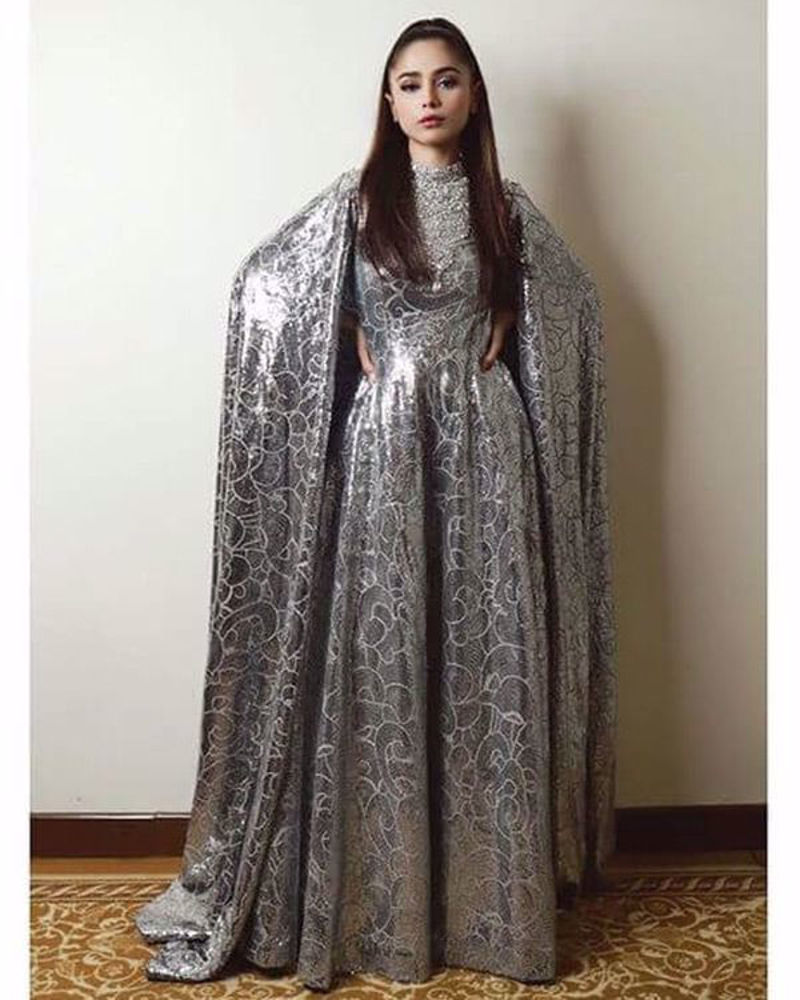 Picture of A super glitzy costume for superstar Aima Baig, for her grand performance at PSL ceremony
