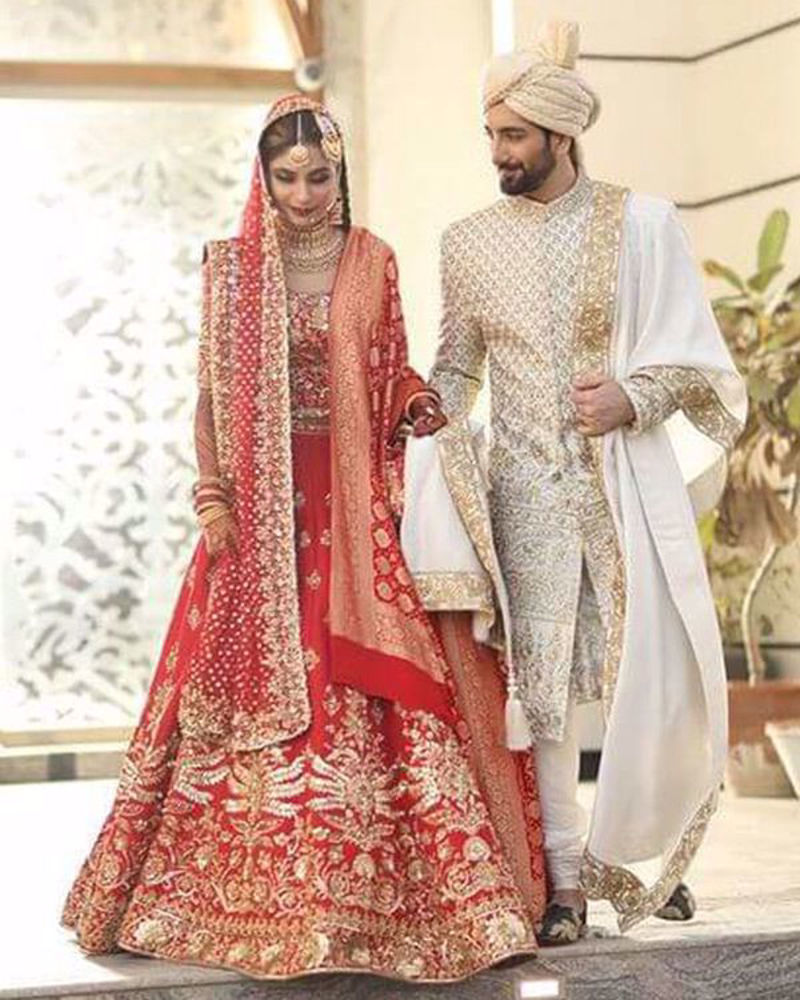 Picture of Ali and Syeda look absolutely regal in bespoke Nomi Ansari bridal and groom's wear
