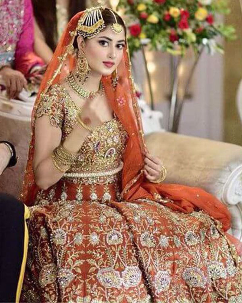 Picture of One of our favourite celebrities, Sajal makes our latest bridal ensemble look even more beautiful!
