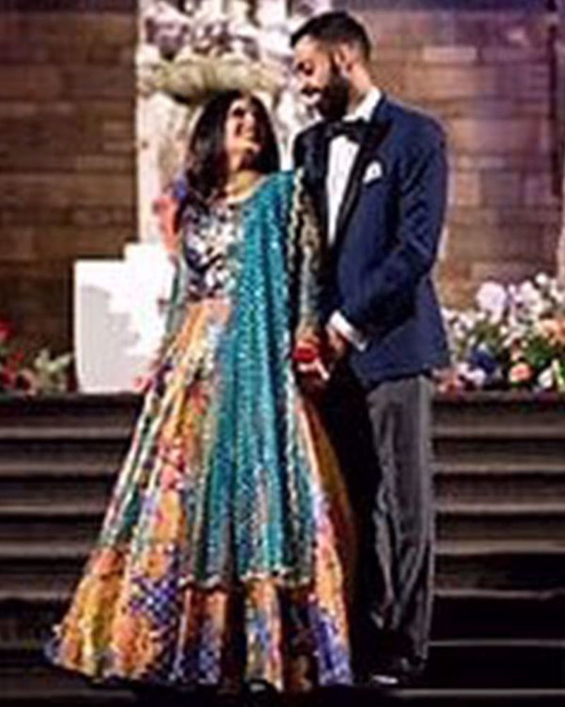 Picture of Two perfectly distinct ensembles for Khush Binder's grand wedding looks